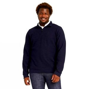 Goodfellow Sherpa and knit 1/4 zip pullover 5XB